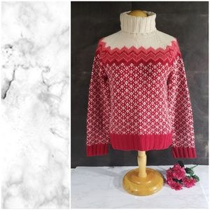 American Eagle Red Wool Knit Sweater Large